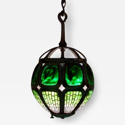 Tiffany Studios Hanging Turtle Back Lantern