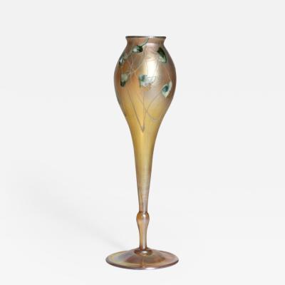 Tiffany Studios Intaglio Flower Form Vase