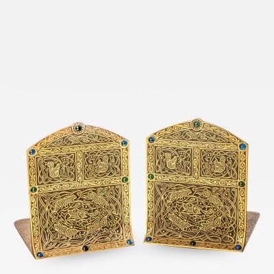 Tiffany Studios Ninth Century Pattern Bookends