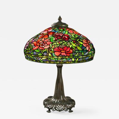 Tiffany Studios Peony Tiffany Lamp
