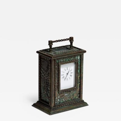 Tiffany Studios Pine Needle Carriage Clock