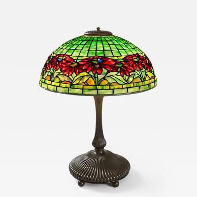 Tiffany Studios Poinsettia Tiffany Lamp