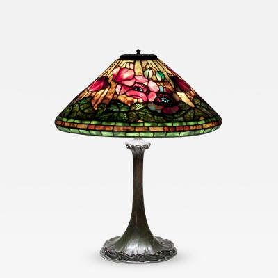Tiffany Studios Poppy Shade on Ribbon Base