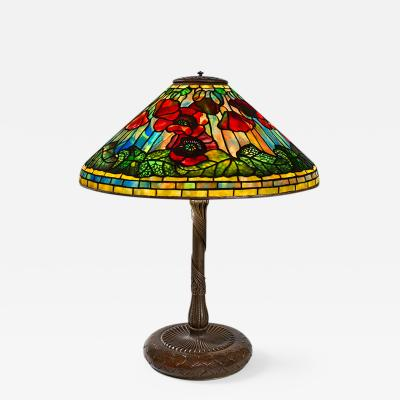 Tiffany Studios Poppy Tiffany Lamp