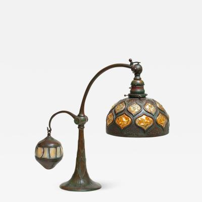 Tiffany Studios Rare Balance Weight Table Lamp