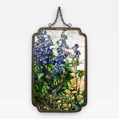 Tiffany Studios Rare Delphinium and Poppy Hanging Panel