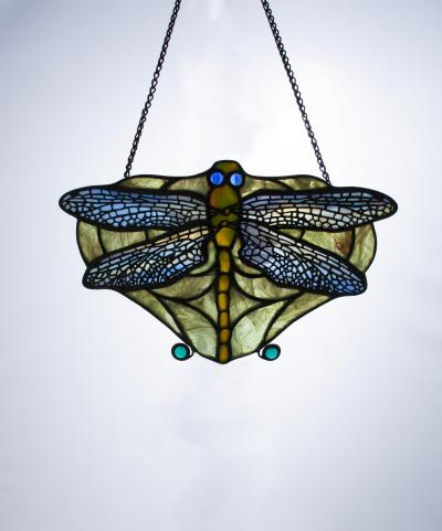 Tiffany Studios Rare Dragonfly Lamp Screen