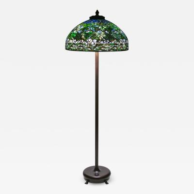 Tiffany Studios Rare Maple Leaf Floor Lamp