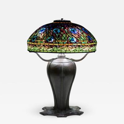 Tiffany Studios Rare Peacock Table Lamp