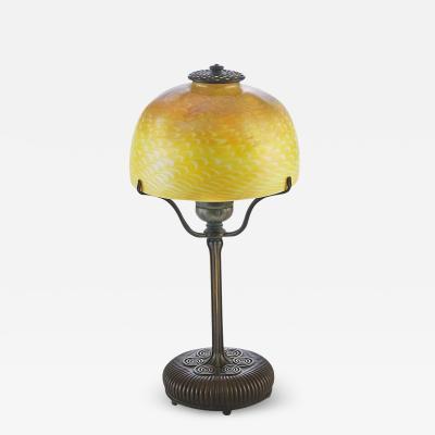 Tiffany Studios Table Lamp with Damascene Shade