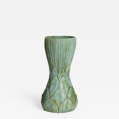 Tiffany Studios Tall Artichoke Favrile Pottery Vase