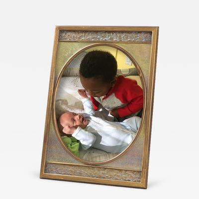 Tiffany Studios Tiffany Furnances Bronze and Iridescent Enamel Picture Frame