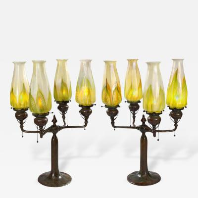 Tiffany Studios Tiffany Lighted Candelabra