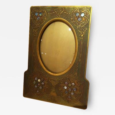Tiffany Studios Tiffany Studios Bronze Dore Abalone Picture Frame