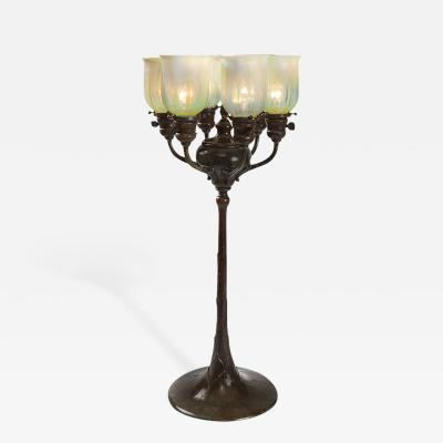 Tiffany Studios Tiffany Studios Electrified Candelabrum