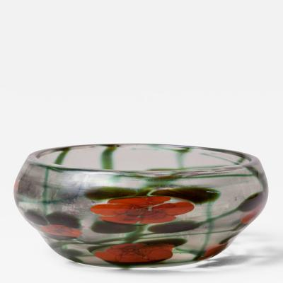 Tiffany Studios Tiffany Studios Favrile Glass Decorated Paperweight Bowl