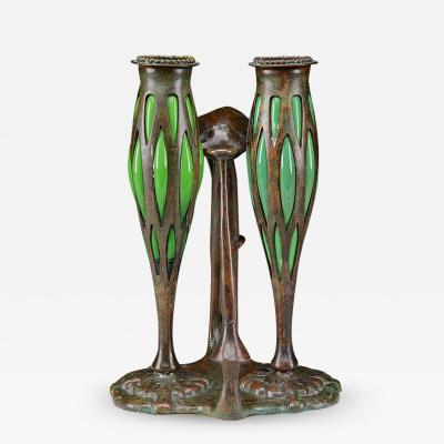 Tiffany Studios Tiffany Studios New York Bronze Candlestick