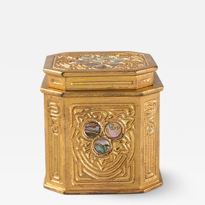 Tiffany Studios Tiffany Studios New York Bronze and Abalone Inkwell