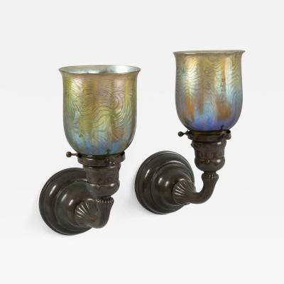 Tiffany Studios Tiffany Studios New York Single Arm Wall Sconces