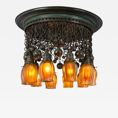 Tiffany Studios Tiffany Studios New York Ten Light Moorish Chandelier