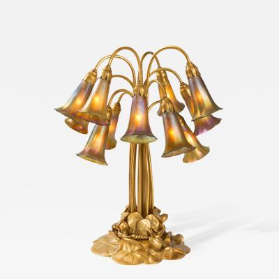 Tiffany Studios Twelve Light Lily Tiffany Lamp