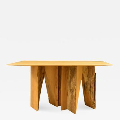 Timoth e Musset Ancient Normandy Oak New Designed Side Table by Timoth e Musset