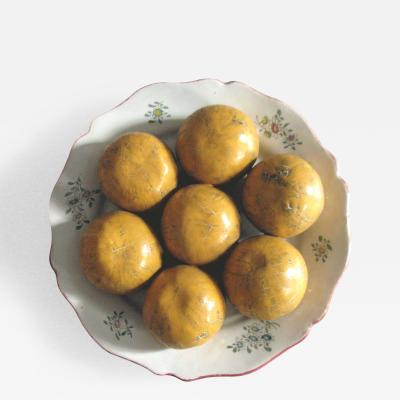 Tin Glazed Earthenware Dish Mounted with Tangerines Manufactured at St Paul