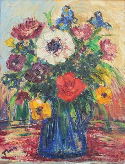 Tina Robinson Framed Flowers
