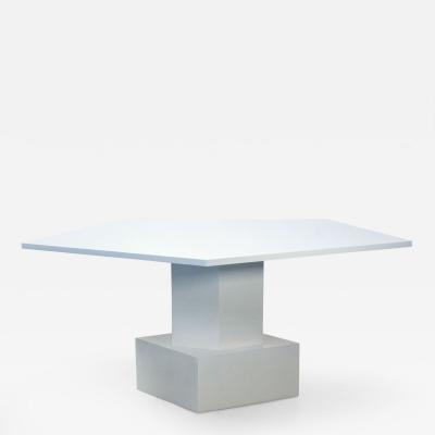 Tinatin Kilaberidze Dining Table in Whlte Lacquer by Tinatin Kilaberidze