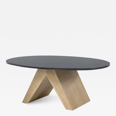 Tinatin Kilaberidze Oak and Bronze coffee table by Tinatin Kilaberidze