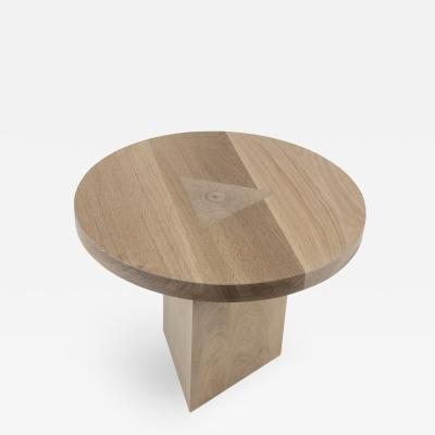 Tinatin Kilaberidze Round Side Table by Tinatin Kilaberidze in Oak