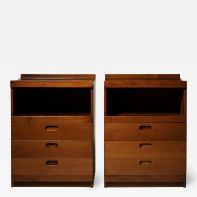 Tito Agnoli Pair of High Night Stands by Tito Agnoli for Molteni