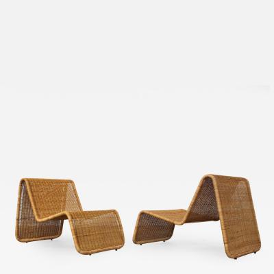 Tito Agnoli Pair of Tito Agnoli P3 Lounge Chairs for Bonacina Italy 1960s