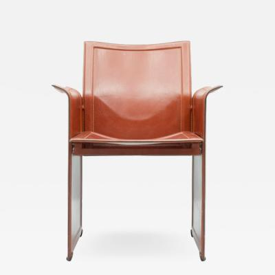 Tito Agnoli Tito Agnoli Korium Leather Chair by Matteo Grassi Italy1 970s