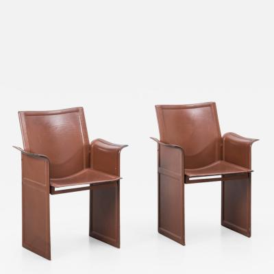 Tito Agnoli Tito Agnoli Korium chairs Mateo Grassi Italy 1970s Three available