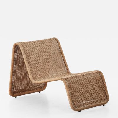 Tito Agnoli Tito Agnoli Rattan P3 Easy Chair Pierantonio Bonacina 1960s