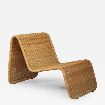 Tito Agnoli Tito Agnoli for Bonaccina P3 Lounge chair MidCentury in rattan 1960s