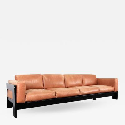 Tobia Scarpa Bastiano Sofa Four Seat Cognac Leather by Tobia Scarpa