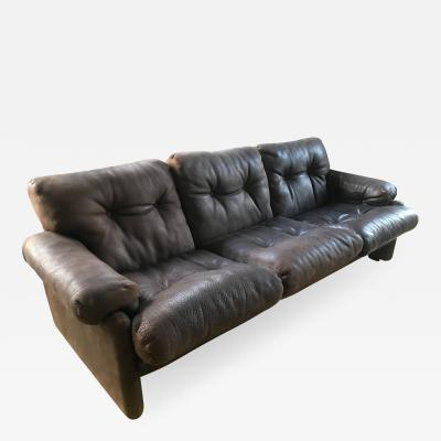 Tobia Scarpa Coronado Three Seat Sofa in Leather by Tobia Scarpa for B B 1960s