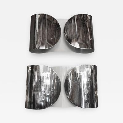 Tobia Scarpa Metallic Sconces by Tobia Scarpa