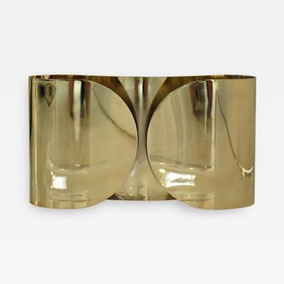 Tobia Scarpa Mid Century Modern Tobia Scarpa Model Foglia Made of Brass Italian Sconces