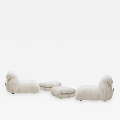 Tobia Scarpa Set Of Afra Tobia Scarpa Soriana Chair and Ottoman for Cassina Italy 1960s