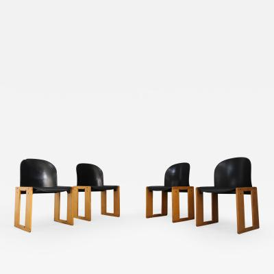 Tobia Scarpa Set of 4 chairs Tobia Shoe serious AFRA for B B italy