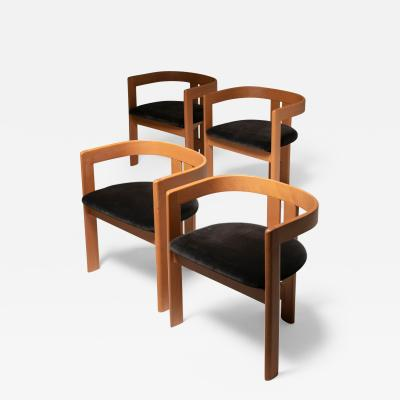 Tobia Scarpa Set of Four Pigreco Chairs by Tobia Scarpa for Gavina
