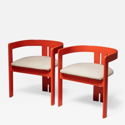 Tobia Scarpa Set of Two Pigreco Chairs by Tobia Scarpa for Gavina