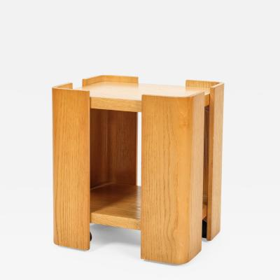 Tobia Scarpa Side table in solid oak Tobia Scarpa Attr 70s