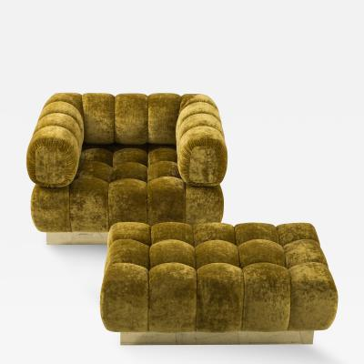 Todd Merrill Todd Merrill Custom Originals Tufted Club Chair and Ottoman