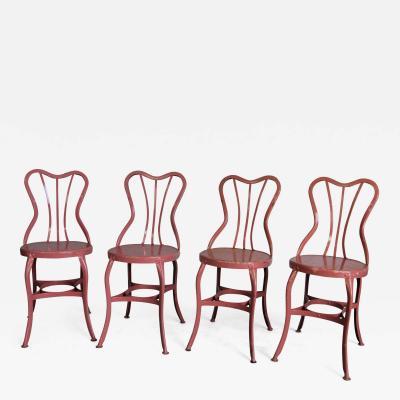 Toledo Art Metal Company Ice Cream Cafe Chairs