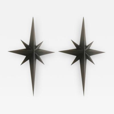 Tom Dixon Awesome Pair of Wrought Iron Star Sconces Attributed to Tom Dixon First Period
