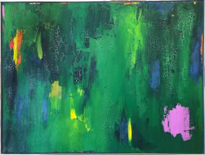 Tom Goldenberg Crossing Walking Green Abstract